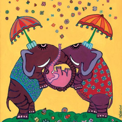 olifantjes met baby