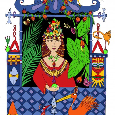 Fruitprinses in pagode