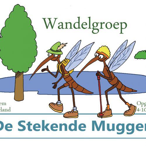 de stekend muggen illustratie logo