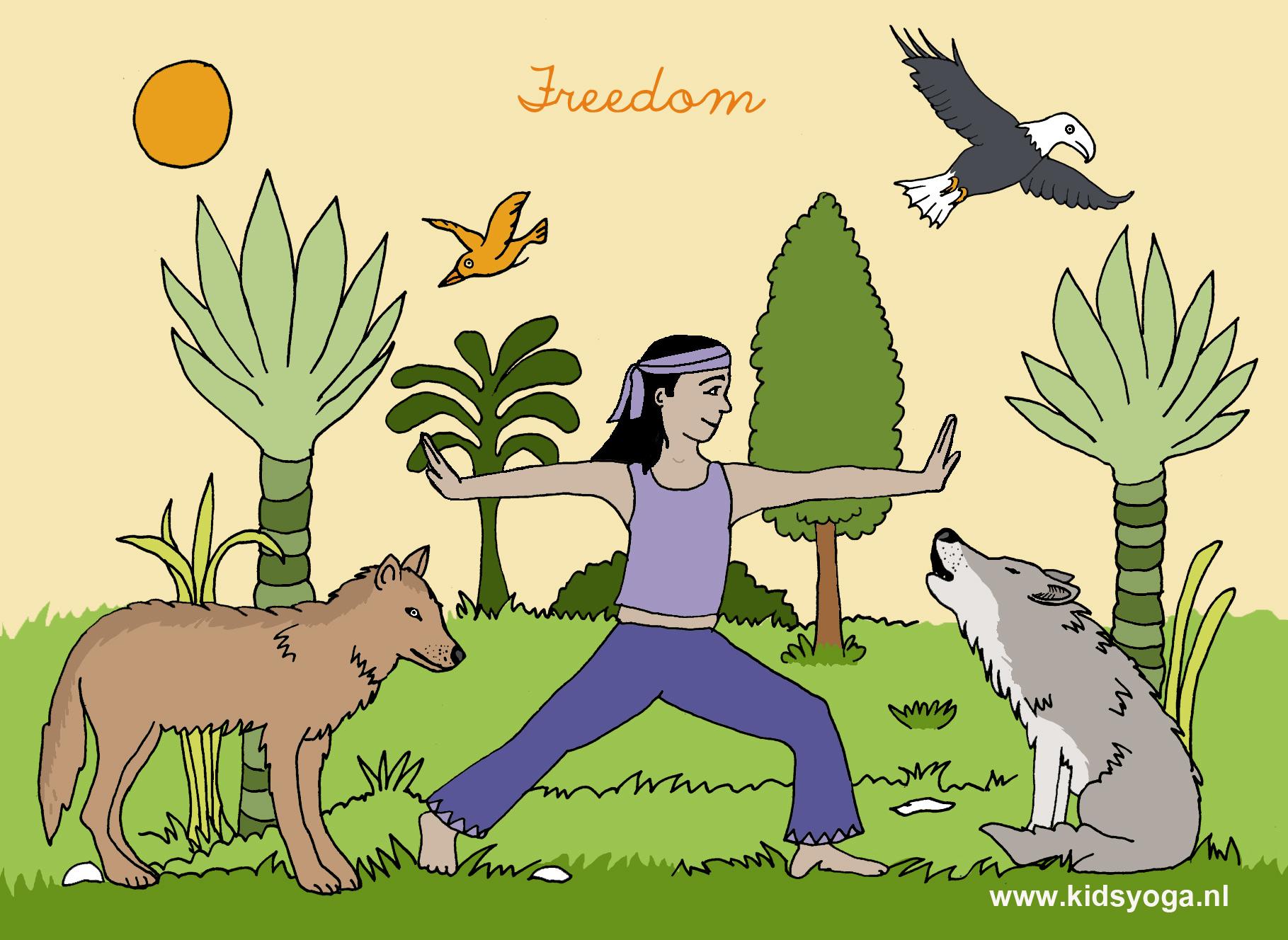 yogakaart illustratie