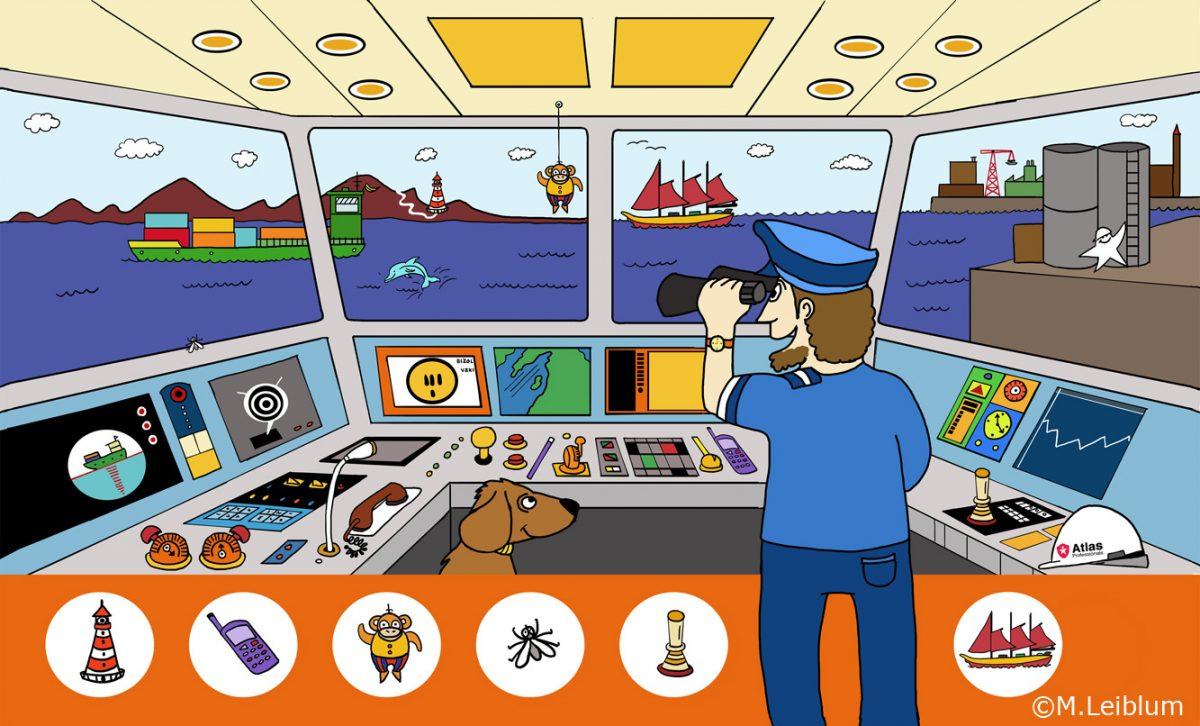 bestuurskamer boot illustratie